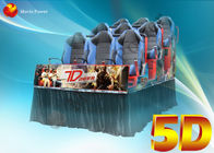 3D Glasses Dynamic Rain Fire 5D Movie Theater With Body Motion Seater
